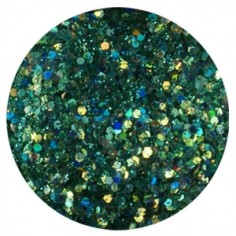Confetti with Glitter Dust, dark green