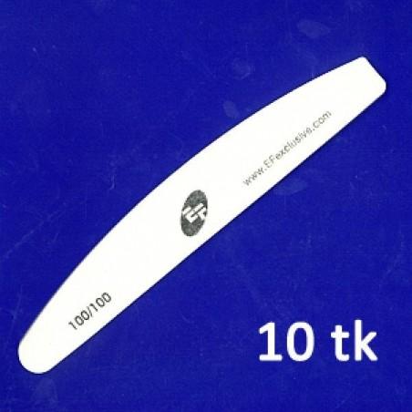 Halfmoon nail file, 100/100, 10pcs