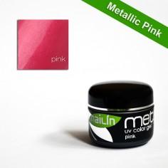 Värviline geel, Metallic Pink, 5g