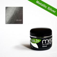 Värviline geel, Metallic Silver, 5g