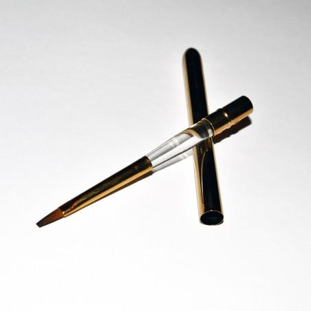 Gel Brush, Flat Dark Nylon, nr 4, metal