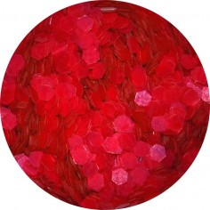 Confetti, red