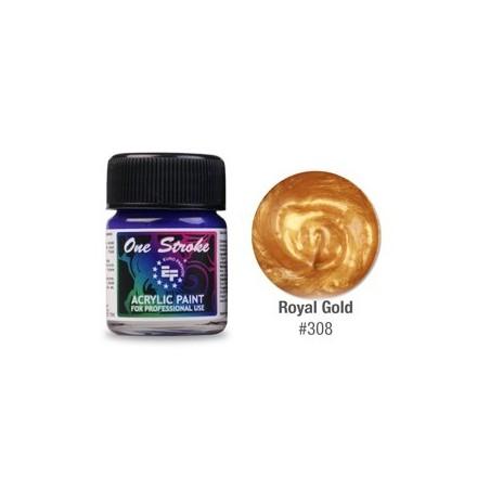 Acrylic Paint, One Stroke, Royal Gold, 15ml