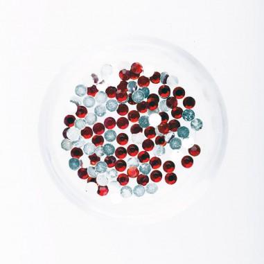Rhinestones, red, 2mm