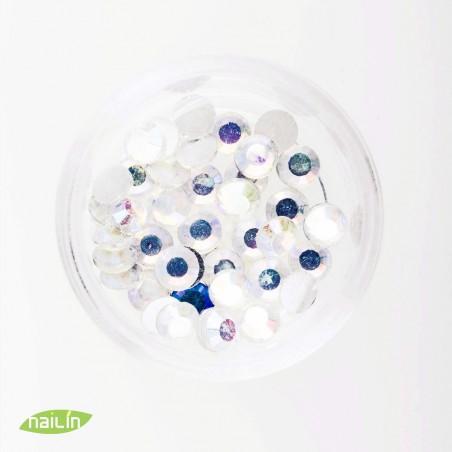 Rhinestones, 4mm, multicolor white
