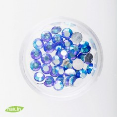Rhinestones, 4mm, multicolor blue
