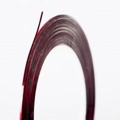 Decorative Stripe, metallic red