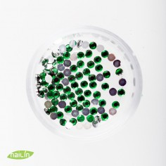 Rhinestones, green, 2mm