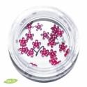 Glass Flowers, 5mm, dark pink