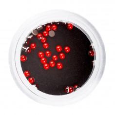3D pärlid, 2mm, punane