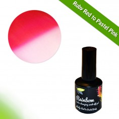 Värvimuutev geellakk, Ruby Red to Pastel Pink, 15ml