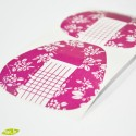 Nail forms, pink flowers, 20pcs