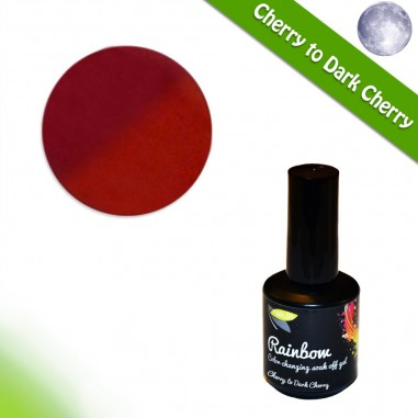 Color Changing Gel Polish, Cherry to Dark Cherry, 15ml