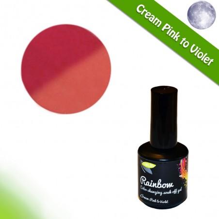 Color Changing Gel Polish, Cream Pink to Violet, 15ml