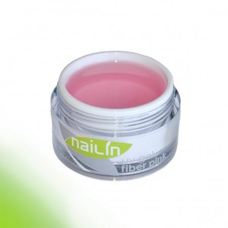Строительный гель, Fiber Pink, 50g