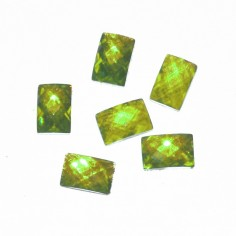 Glass Jewels, square, green-yellow