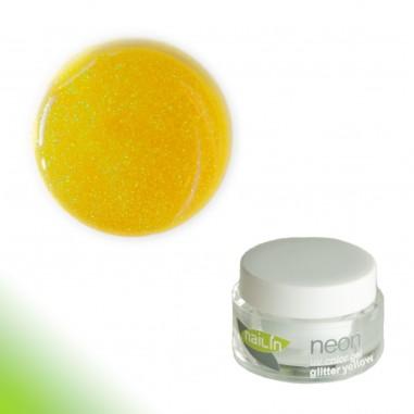 Värviline geel, Neon Glitter Yellow, 5g