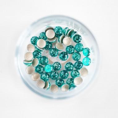 Glitter pärlid, roheline