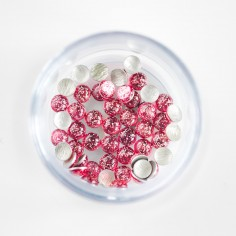 Perle con glitter, rosa