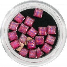 3D Pearls, multicolor pink squares