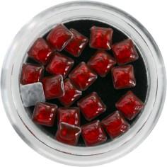 3D pärlid, multicolor punased ruudud
