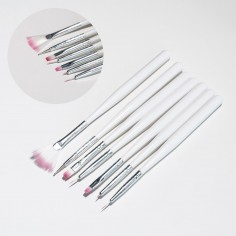 Set of brushes for gel & nail art, 7pcs