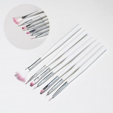 Set of brushes for gel & nail art, 7pcs