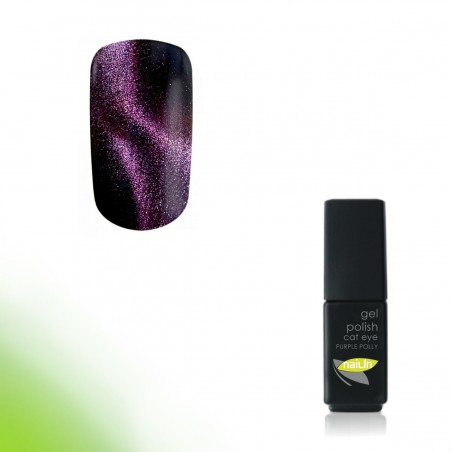 Hybrid Gel Polish, Cat Eye Purple Polly, 4,5g