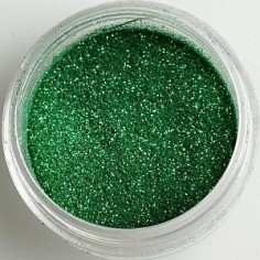 Glitter, metallic dark green