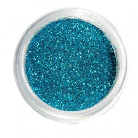 Glitter, turquoise blue