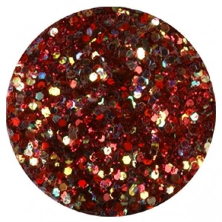 Confetti with Glitter Dust, dark red