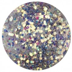 Confetti with Glitter Dust, silver grey